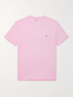 Polo Ralph Lauren Slim-Fit Logo-Embroidered Cotton-Jersey T-Shirt