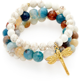 Good Charma Dragonfly Charm Bracelets (Set of 4)