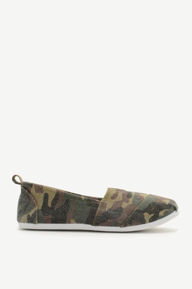 Ardene Camo Canvas Slip-On Sneakers