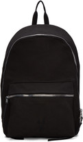 Rick Owens Black Twill Backpack