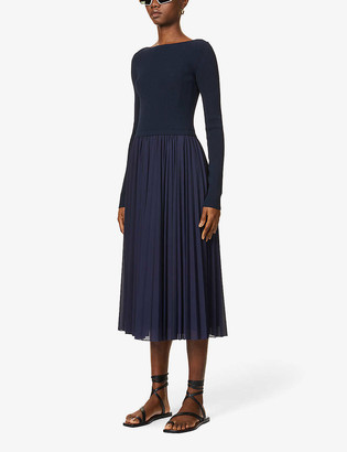 Sportmax Falena scoop-neck stretch-knit midi dress
