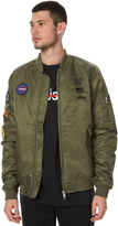 Stussy Golden Gate Mens Bomber Jacket Green
