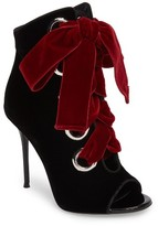 Giuseppe Zanotti Women's Velvet Lace-Up Bootie