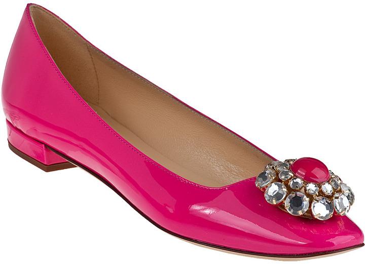 Kate Spade Notion Ballet Flat Lipstick Pink Patent