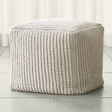 Crate & Barrel Rowden Pouf