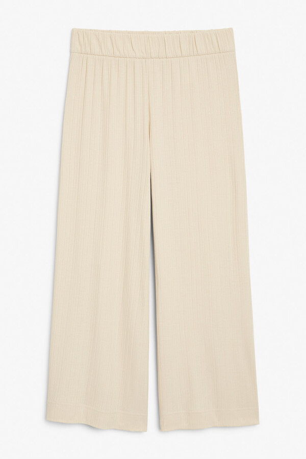 Thumbnail for your product : Monki Ribbed wide leg trousers