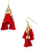Aqua Katie Multi Tassel Drop Earrings - 100% Exclusive