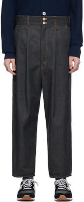 Comme des Garcons Homme Indigo Garment-Washed Jeans