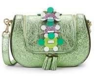 Anya Hindmarch Vere Mini Chain Metallic Leather Crossbody Bag