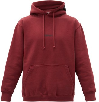 Vetements Logo-print Cotton-blend Hooded Sweatshirt - Red