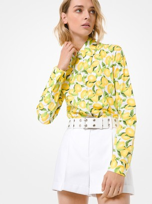 Michael Kors Lemon Cotton Poplin Shirt