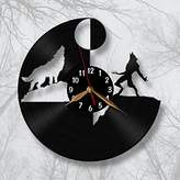 VinylImage Werewolf Wall Clock 12 inch (30cm) / Wolfman Laser cut of Vintage Vinyl Record