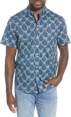 Reyn Spooner Rattan Vines Tailored Fit Short Sleeve Button-Down Shirt