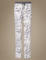Marks and Spencer Printed Long Pyjama Bottoms