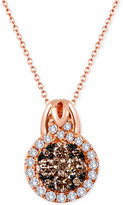 LeVian Le Vian Chocolatier® Diamond Pendant Necklace (1 ct. t.w.) in 14k Rose Gold