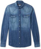 Dolce & Gabbana - Slim-fit Washed-denim Western Shirt