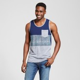 Mossimo Men's Vented Hem Tank with Pocket Navy