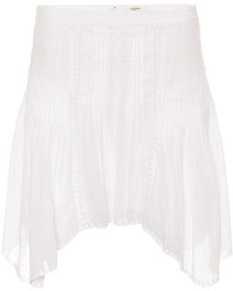 Etoile Isabel Marant Akala embroidered cotton skirt