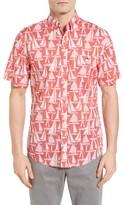 Vineyard Vines Men's Boats Tucker Slim Fit Print Sport Shirt