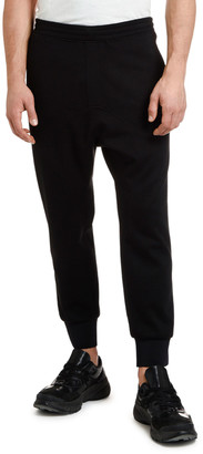 Neil Barrett Men's Slouchy Rise Tuxedo Jogger Pants