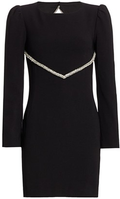 HANEY Audrey Embellished Open Back Sheath Dress