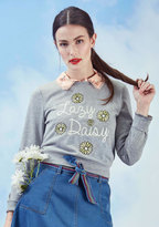 ModCloth Lovely Lollygagging Sweatshirt in S