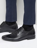 Frank Wright Toe Cap Oxford Shoes in Black