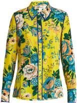 Diane von Furstenberg Bournier floral-print silk crepe de Chine shirt