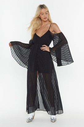 Nasty Gal Womens MS Cold Shoulder Maxi Dress - black - 4