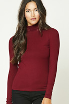 Forever 21 FOREVER 21+ Ribbed Knit Turtleneck Top