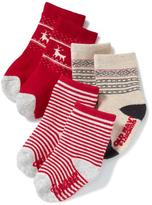 Old Navy Printed Non-Skid Socks 3-Pack for Baby