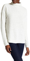 Joseph A Funnel Neck Popcorn Knit Pullover Sweater