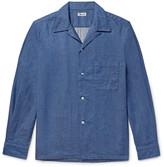 Camoshita Slim-Fit Camp-Collar Denim Shirt
