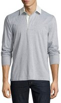 Tom Ford Melange Rugby Pullover, Gray
