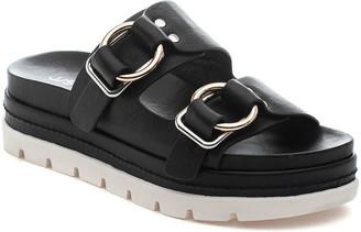 J/Slides Baha Leather Double-Buckle Slide Sandals