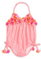 Kate Mack Infant Girl's Floral Bubble One-Piece Swimsuit