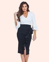 Jessica Wright Ruffle Pencil Skirt