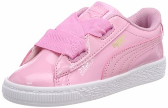 Puma Baby Girls Basket Heart Patent Inf Low-Top Sneakers