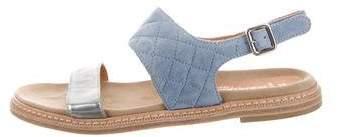 Aquatalia Suede Quilted Sandals