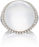 Susan Foster 18K White Gold Sapphire and Diamond Moonstone Ring