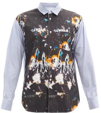 Comme des Garçons Shirt X Futura 2000 Printed Striped Cotton-poplin Shirt - Black Multi