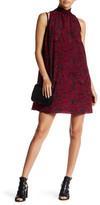 1 STATE 1.State Sleeveless Ruffle Neck Shift Dress