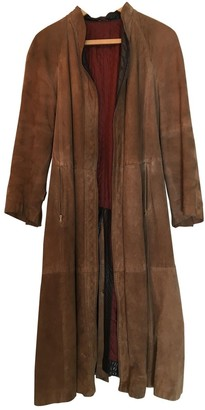 Gianfranco Ferre Brown Leather Coat for Women Vintage