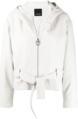 Pinko Belted Hooded Jacket