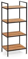 Zeller 18725 Storage Shelving Unit with 4 Shelves Rule, Wood, black, 39 x 33 x 95 cm