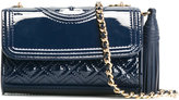 Tory Burch micro Fleming shoulder bag - women - Patent Leather/metal/Leather - One Size