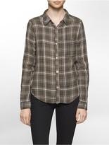 Calvin Klein Lightweight Autumn Plaid Crinkle Shirt