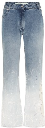 Off-White Mid-rise straight ombre jeans