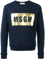 MSGM logo print sweatshirt - men - Cotton - XL