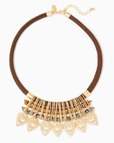 Charming charlie Filigree Cord Choker Necklace
